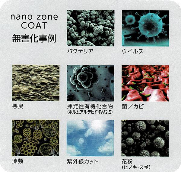 ナノゾーンコートの無害化事例
